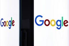 谷歌办公室入口在米兰,意大利 免版税库存图片