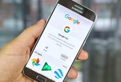 谷歌商标和应用 免版税库存图片