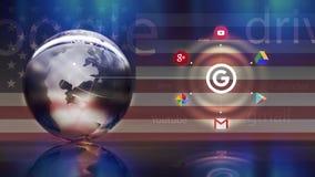 谷歌圈子概念 图库摄影