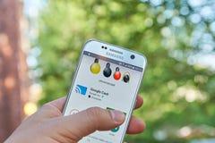 谷歌塑象app 免版税库存图片