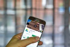 谷歌推进机动性应用 免版税库存图片