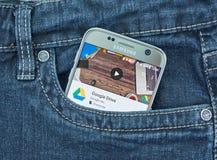 谷歌推进机动性应用 库存照片