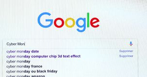 谷歌搜索引擎查寻星期一网络 影视素材