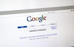 谷歌老牌查寻页 免版税图库摄影