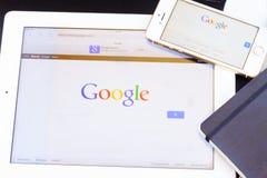 谷歌页 库存照片