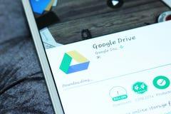 谷歌驱动流动app 免版税库存照片