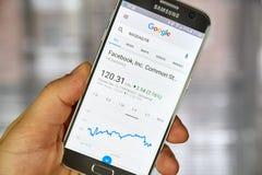 谷歌财务页 库存照片