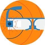 谷歌玻璃抽象象例证 库存照片