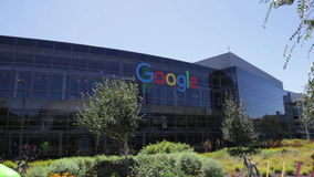 谷歌总部设标志 股票录像