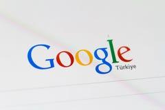 谷歌主页和商标 免版税库存图片