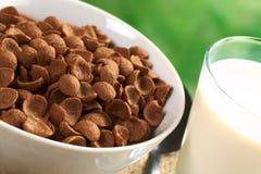 谷物巧克力剥落麦子 免版税图库摄影