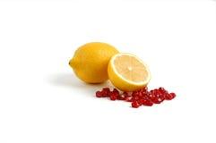 谷物柠檬石榴 库存照片