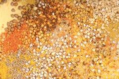 谷物混合背景 库存图片