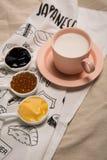 谷物牛奶茶 库存图片