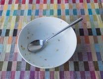 谷物碗和匙子 库存图片