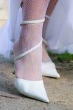 谷物穿上鞋子某个婚礼 免版税库存图片