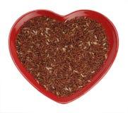 谷物重点喜马拉雅长的红色米 库存照片