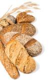 谷物面包的各种各样的类型 免版税库存图片