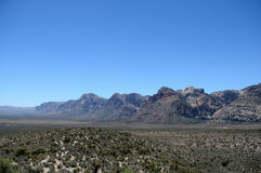 谷的看法在一个红色岩石峡谷的 库存照片
