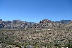 谷的看法在一个红色岩石峡谷的 免版税图库摄影