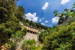 谷的议院在科尔托纳,意大利附近 库存图片