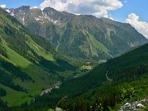 奥地利阿尔卑斯谷Weisspriachtal 库存照片