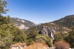 谷视图在优胜美地国家公园 免版税图库摄影