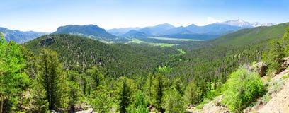 谷风景在美国 库存照片