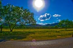 谷仓国家公园得克萨斯小山国家晴朗的夏天极乐 免版税库存图片