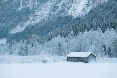 谷仓在Rukkedalen 图库摄影