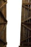 谷仓的一个开放门 库存照片