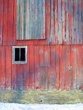 谷仓的边有窗口的 免版税图库摄影