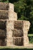 谷仓金黄被堆积的秸杆 库存照片