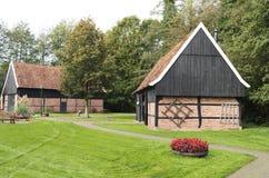 谷仓露天博物馆在Ootmarsum 免版税库存图片