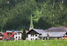 谷Zillertal Mayrhofen 提洛尔 奥地利 图库摄影