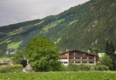 谷Zillertal Mayrhofen 提洛尔 奥地利 免版税库存图片