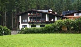 谷Zillertal Mayrhofen 提洛尔 奥地利 库存照片