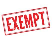 豁免红色不加考虑表赞同的人 免版税库存图片