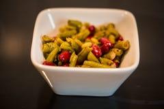 豆、红色和绿色 免版税库存图片