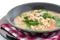 豆丰盛的汤 免版税库存照片