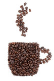 豆做的咖啡杯 库存照片