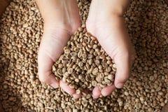 豆关闭咖啡现有量 库存图片