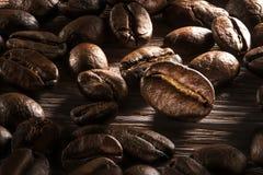 豆关闭咖啡 免版税库存照片