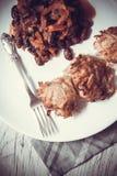 豆和土豆薄烤饼 库存图片