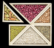 豆和扁豆七巧板摘要 免版税库存图片