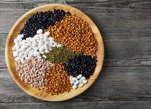 豆和扁豆的混合 免版税库存图片