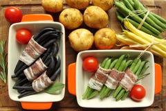 豆和烟肉 库存图片