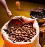 豆咖啡大袋瓢 免版税库存图片