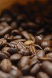豆咖啡宏指令 免版税库存照片