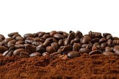 豆咖啡宏指令射击 免版税库存图片